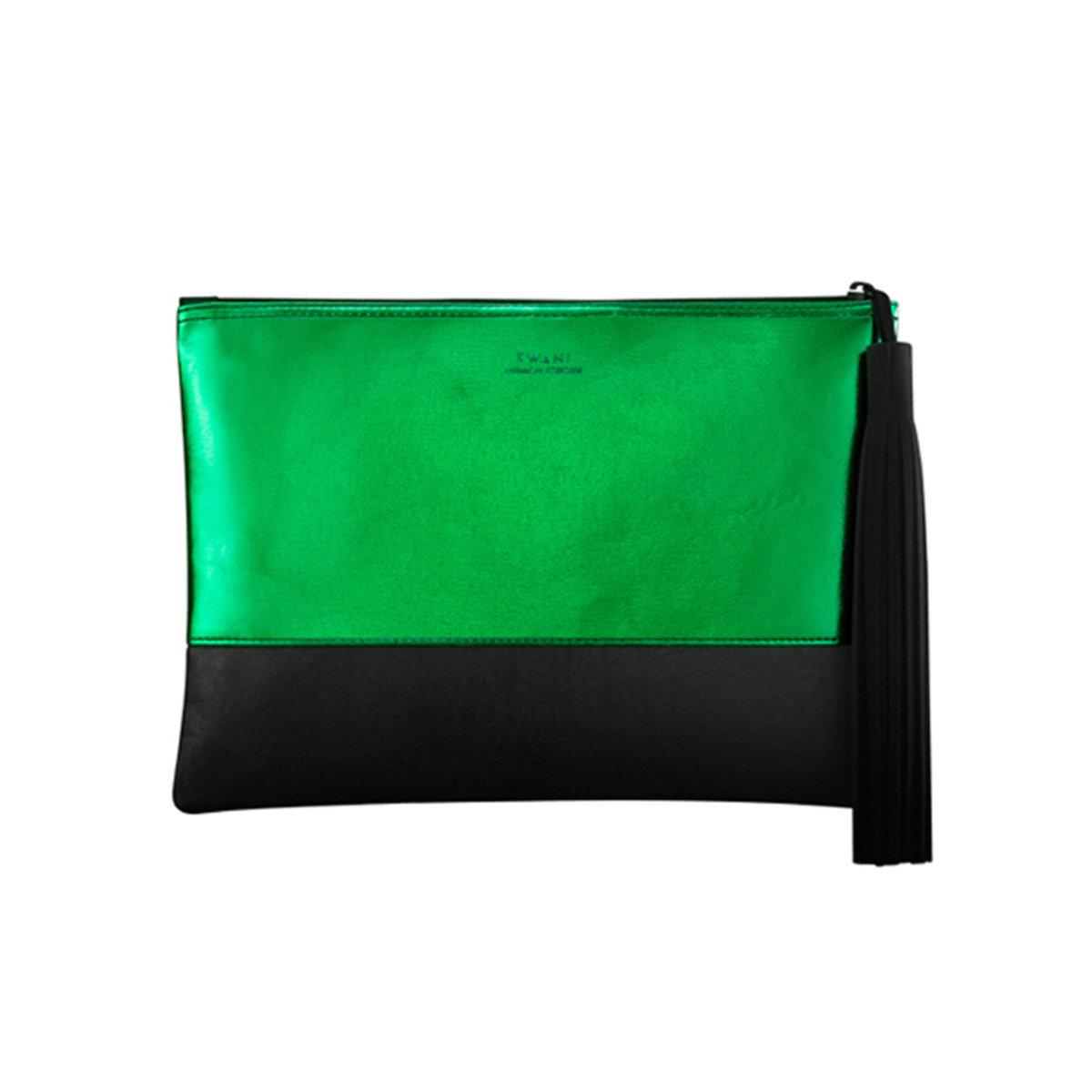 1Year 綠色流蘇手拿包