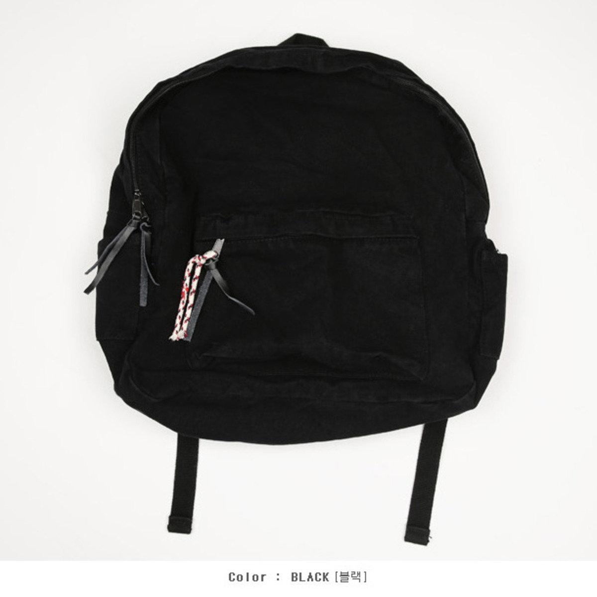 綁繩款拉鏈休閒背包_BA2_160120758