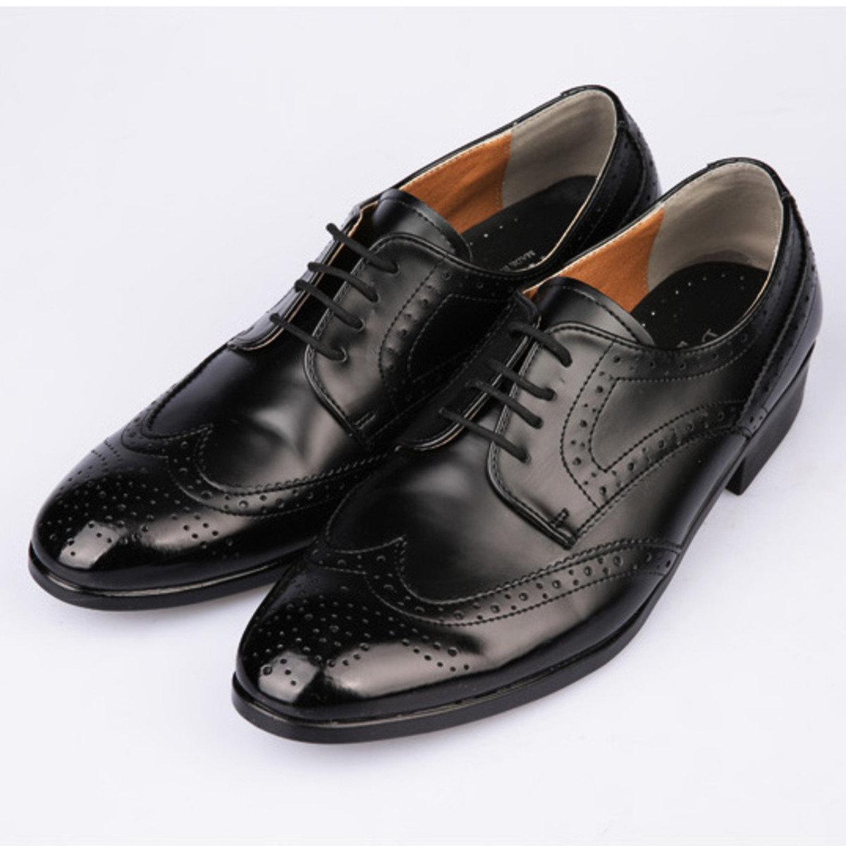 圓頭翼紋牛津皮鞋_SH4_160201287
