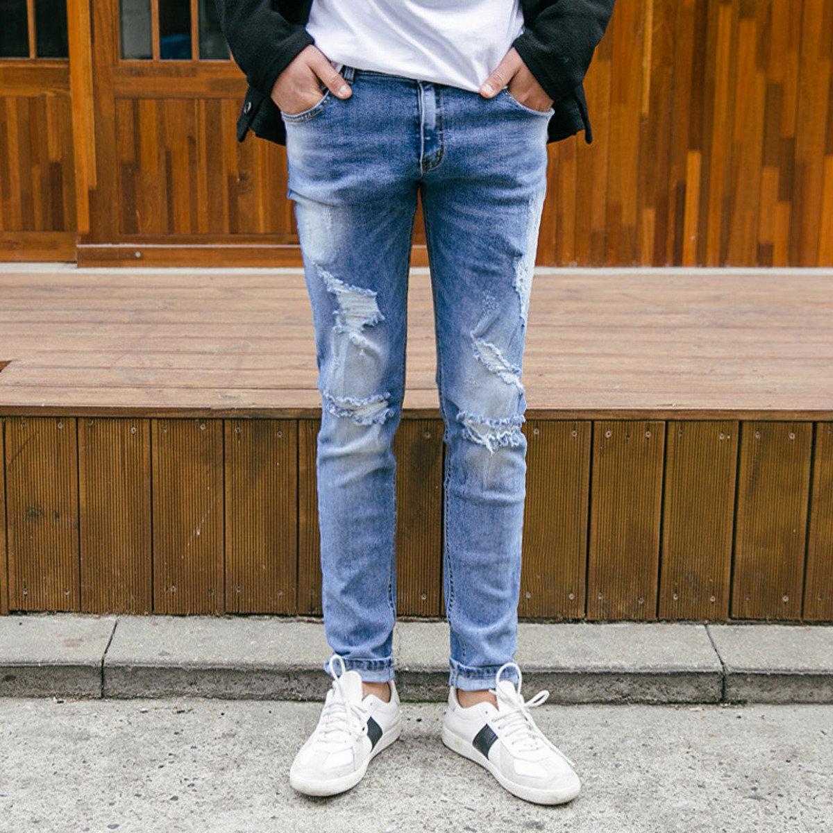 型格破洞牛仔褲_PA1_160302864
