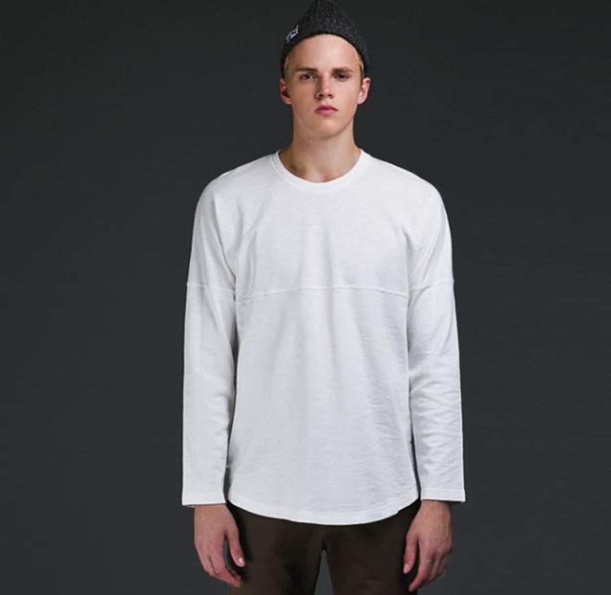 牛角袖長袖T恤_白色TN1_150802817
