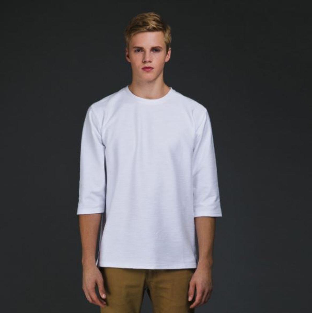 七分袖T恤_白色TN1_150821286