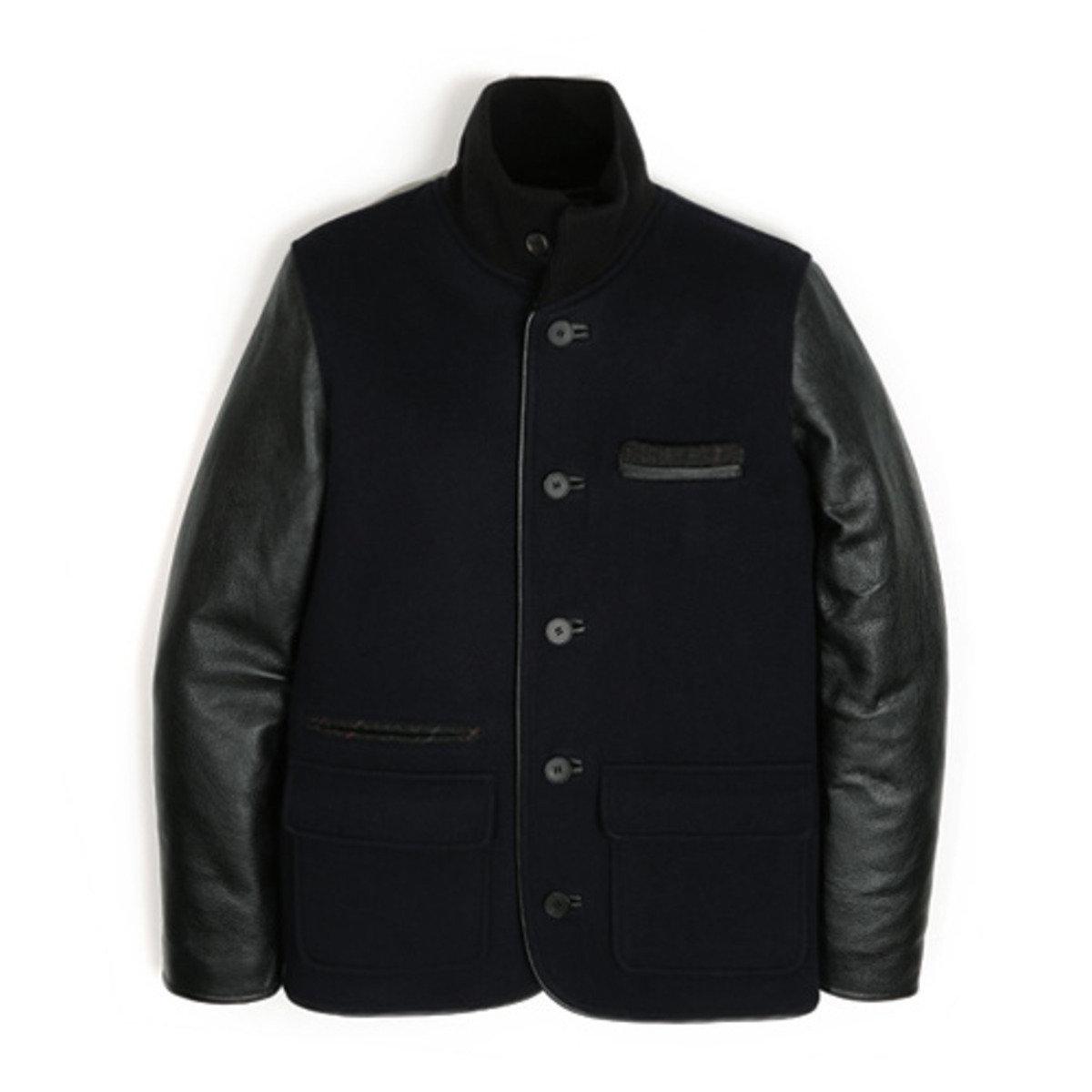 牛皮袖外套_深藍色OU2_150821266