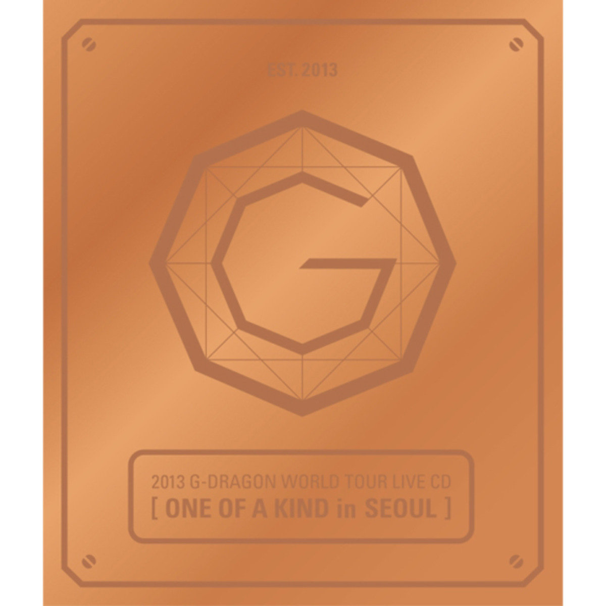 G-Dragon -2013 G-DRAGON WORLD TOUR LIVE CD[ONE OF A KIND in SEOUL](Bronze Ver+Booklet+Standing Paper