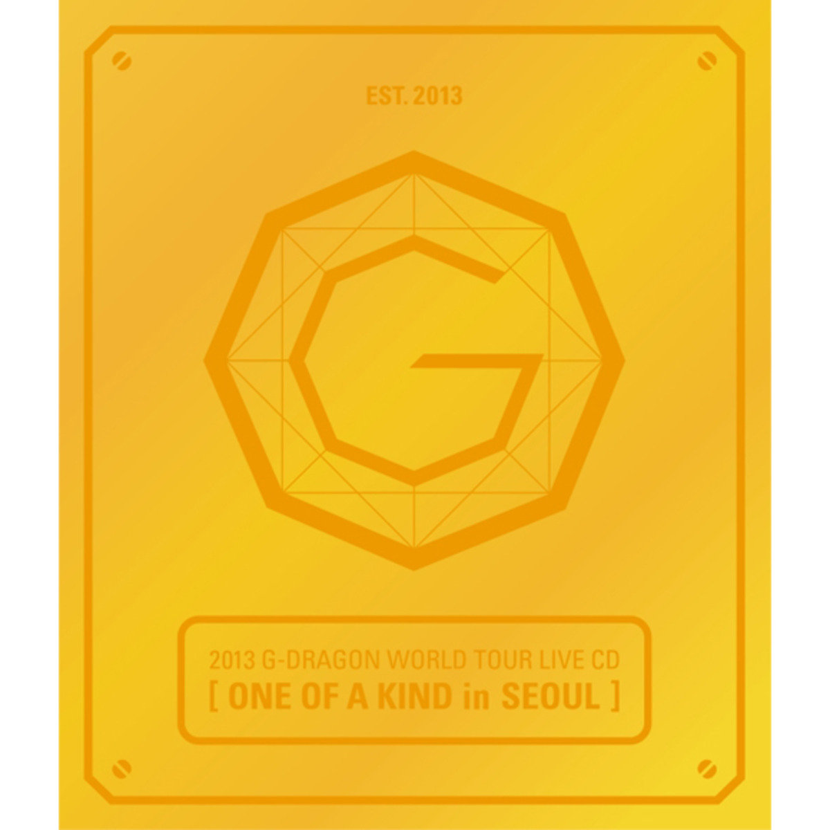 G-Dragon -2013 G-DRAGON WORLD TOUR LIVE CD[ONE OF A KIND in SEOUL](Gold Ver.+Booklet+Standing Paper)