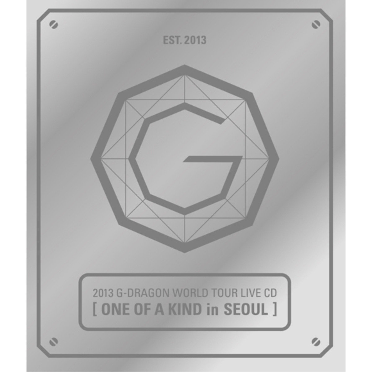 G-Dragon -2013 G-DRAGON WORLD TOUR LIVE CD[ONE OF A KIND in SEOUL](Silver Ver+Booklet+Standing Paper