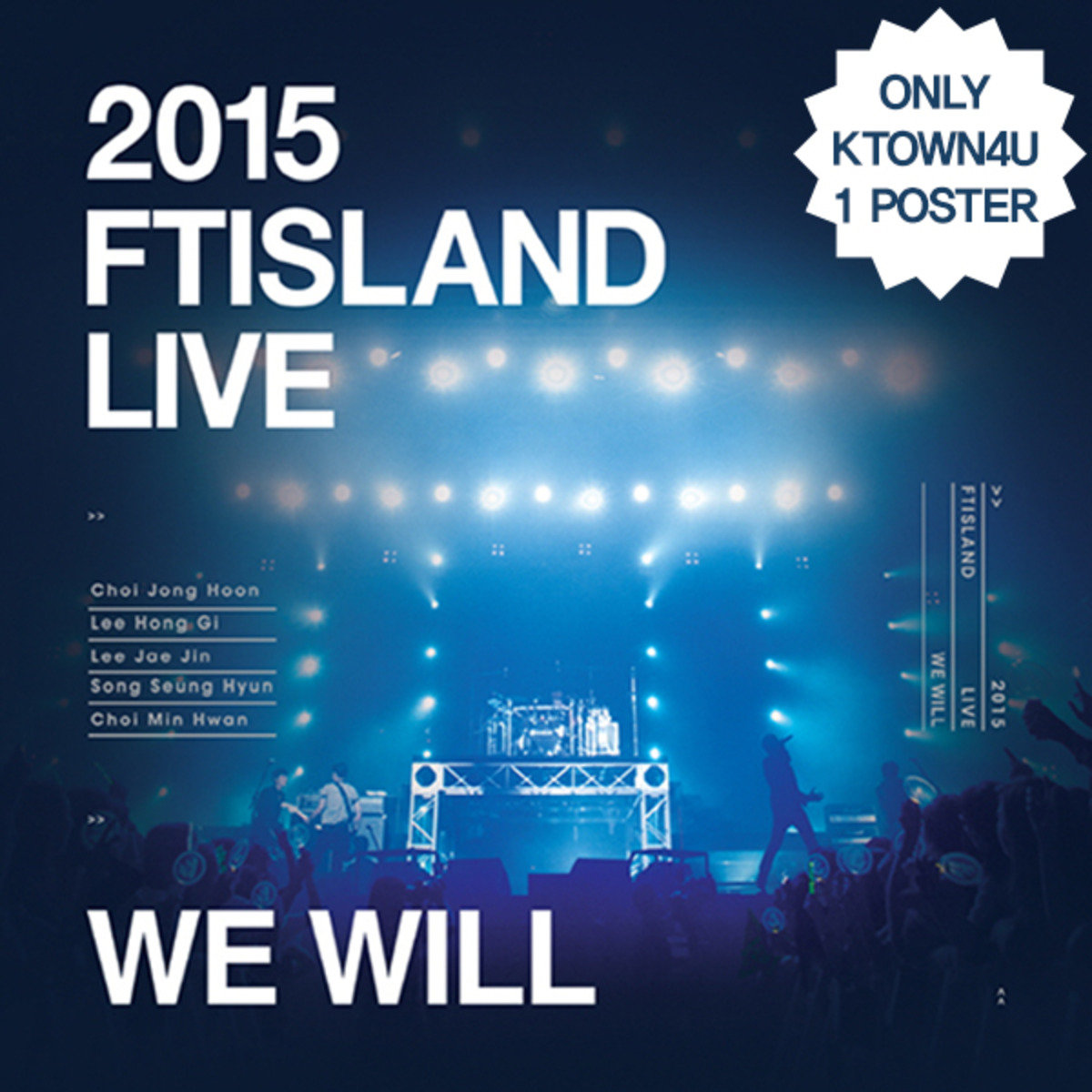 [DVD] FTISLAND - 2015 We Will Live 演唱會DVD (限量版)