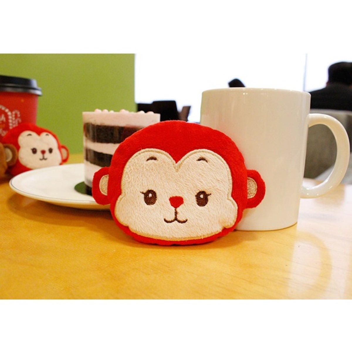 暖包公仔_ Monkey_紅色