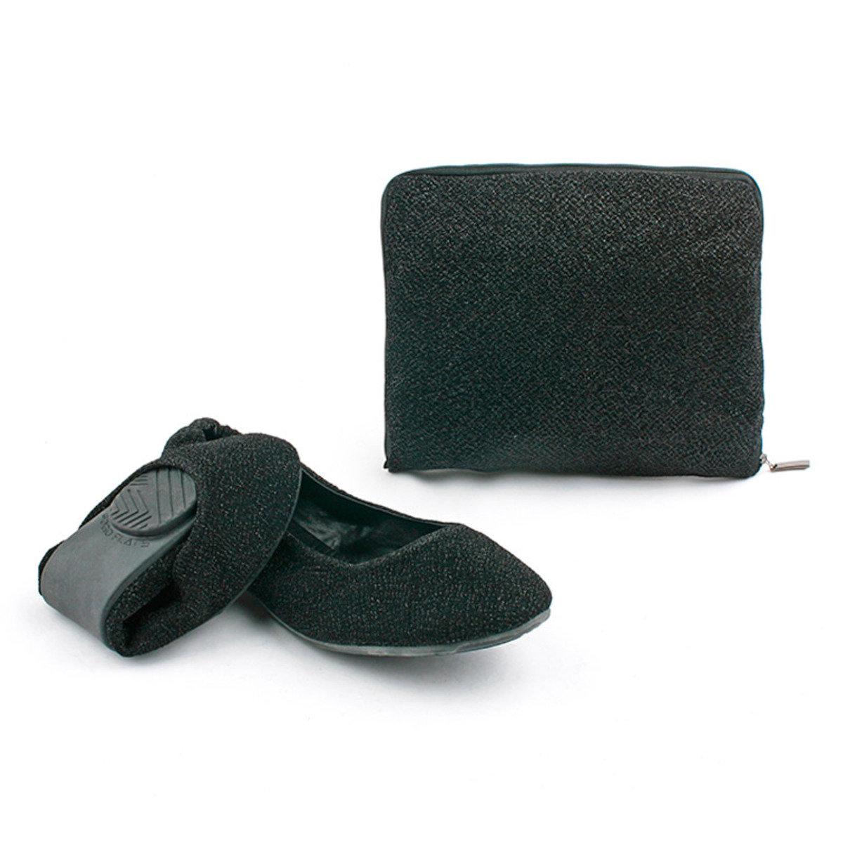 珠光摺疊式平底鞋_GOGO_3BLK