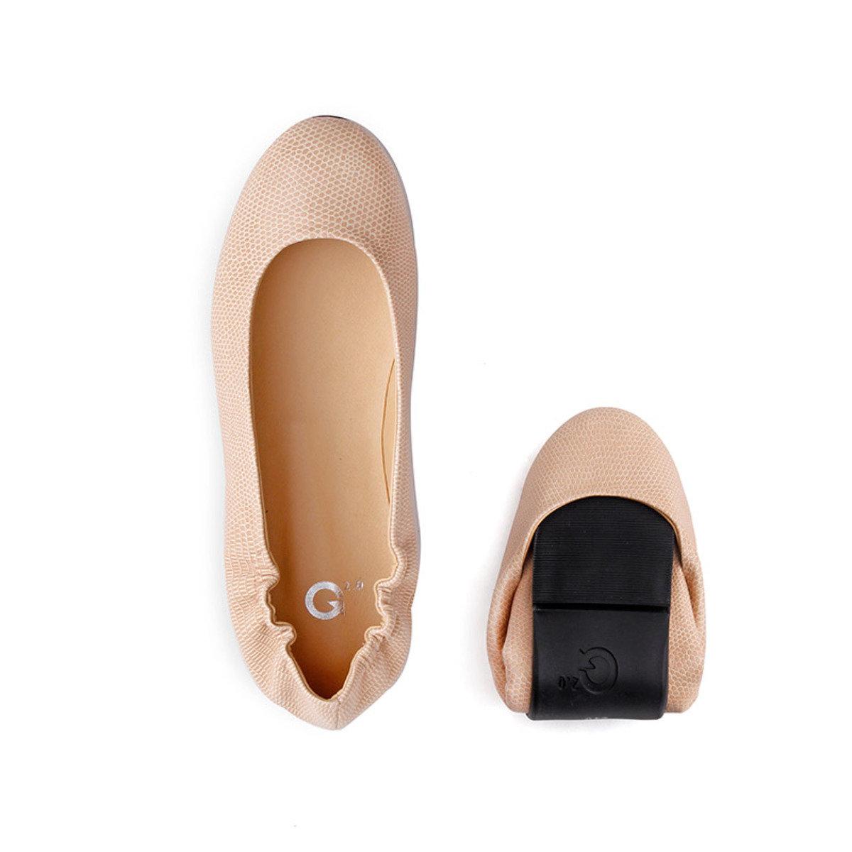 基本B款摺疊式平底鞋_GOGO_6BEI