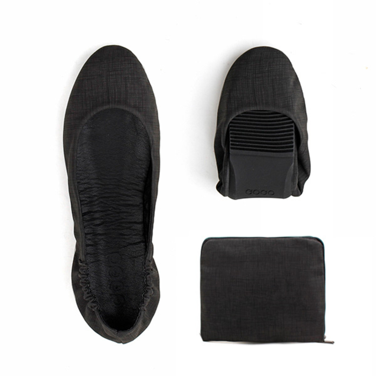 單色摺疊式平底鞋_GOGO_9BLK