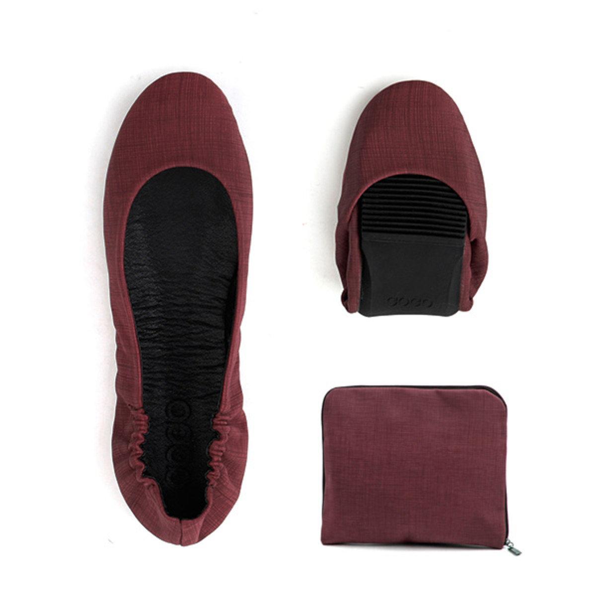 單色摺疊式平底鞋_GOGO_9BY