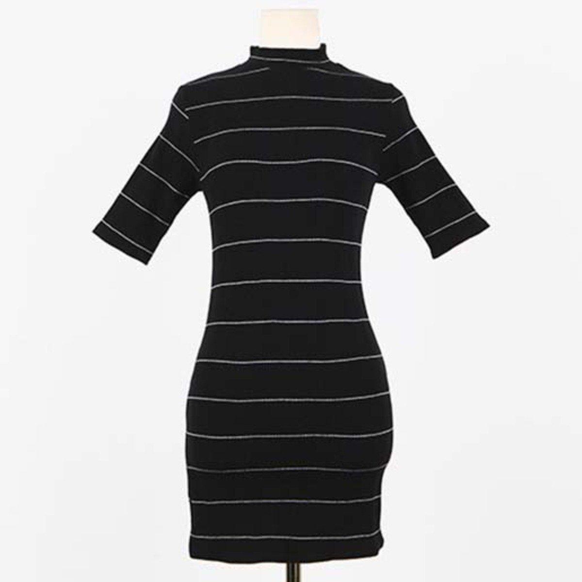 幼條紋連身裙_35171