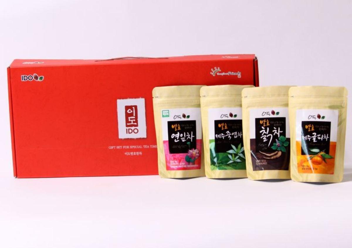 发酵葛茶+发酵济州橘皮茶+发酵荷叶茶+发酵济州竹叶茶