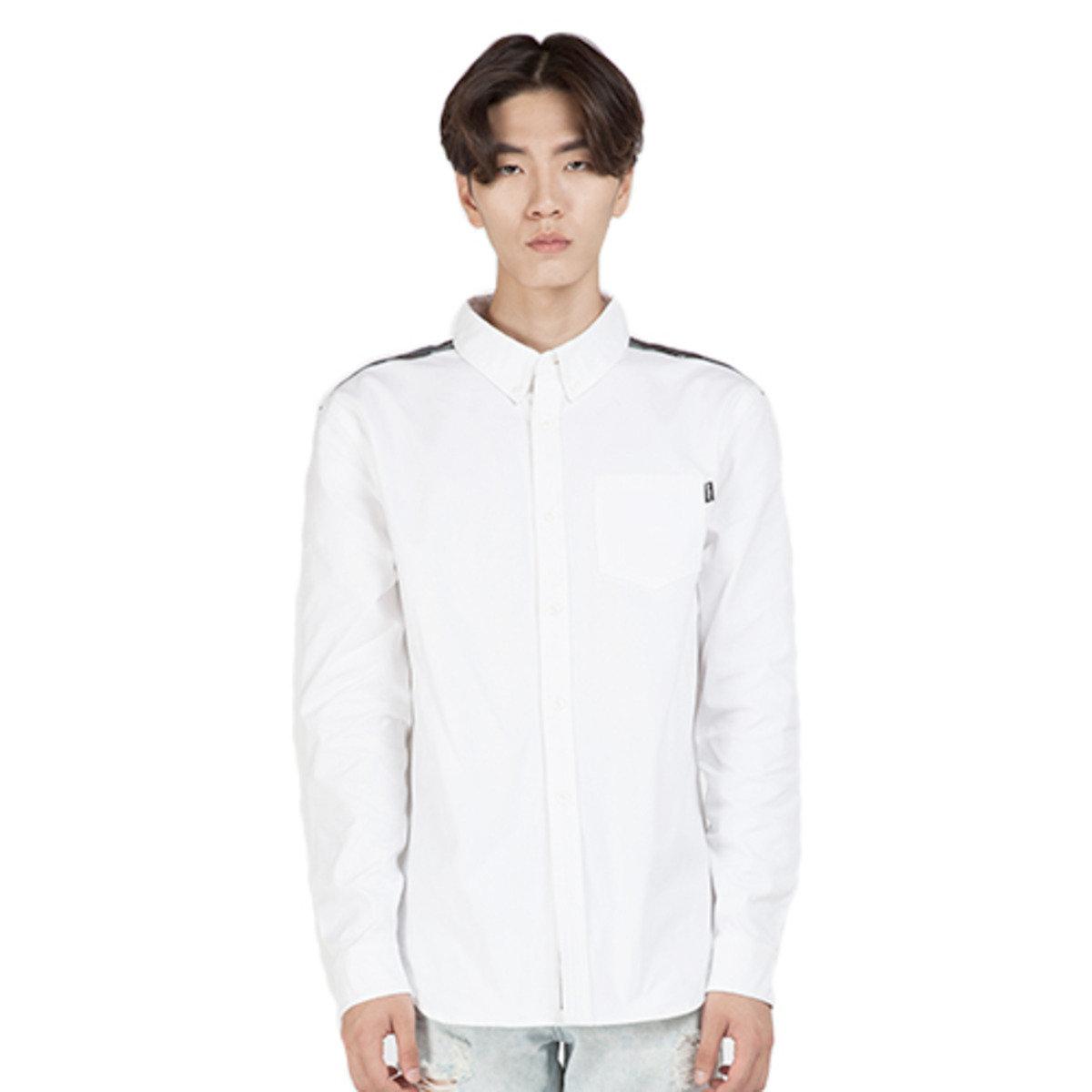 迷彩拼布白色恤衫_FEOCMSH01