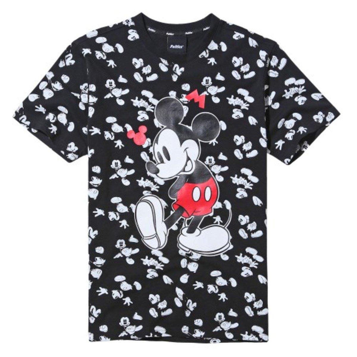 DISNEY MICKEY 公仔拼色短袖T恤_FEOBMTS50