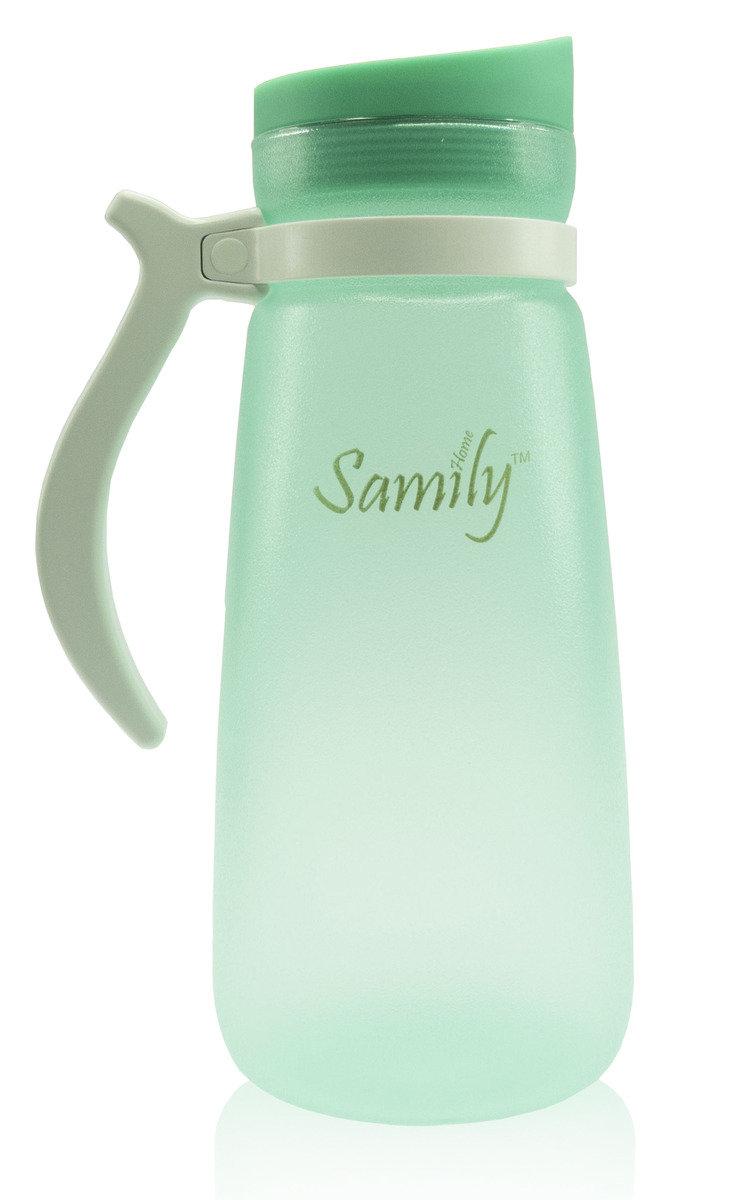 1500ml 矽膠塗層玻璃水瓶 - 綠色