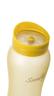 1000ml 矽膠塗層玻璃水瓶 - 黃色