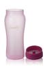 1000ml 矽膠塗層玻璃水瓶 - 粉紅色
