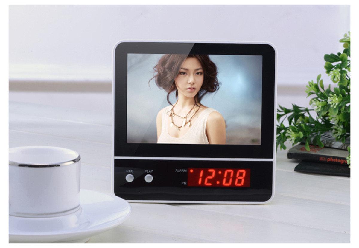 LED 背光相框+錄音提示鬧鐘 時尚 創意 多功能 生活 品味 禮品 電子 學生 兒童 靜音 家居 床頭 夜光 貪睡 相架