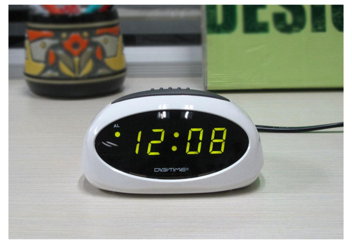 迷你 LED 鬧鐘  時尚 禮品 電子 學生 兒童 靜音 家居 床頭 夜光 貪睡 時鐘