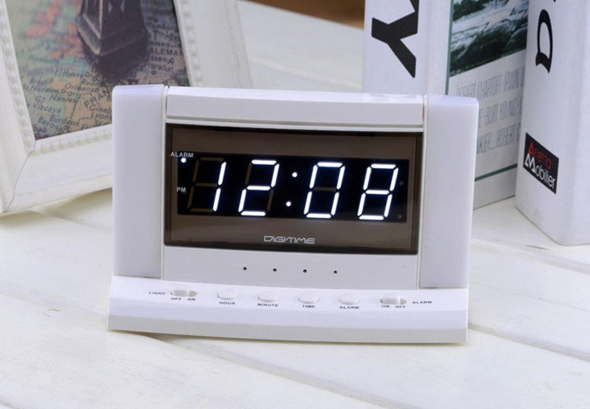 LED 夜燈鬧鐘 時尚 創意 生活 品味 禮品 電子 學生 兒童 靜音 家居 床頭燈 夜光 夜燈 貪睡 時鐘