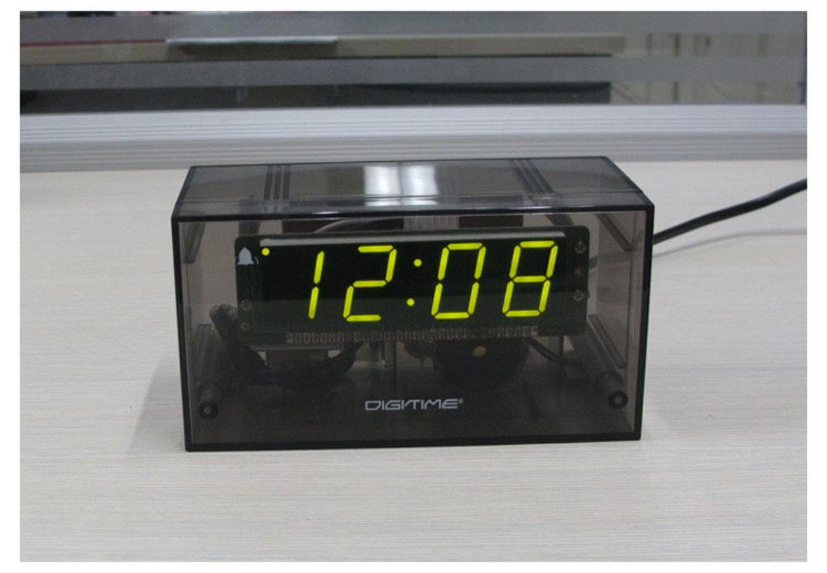 LED 透明鬧鐘 時尚 創意 生活 品味 禮品 電子 學生 兒童 靜音 家居 床頭 夜光 貪睡 時鐘