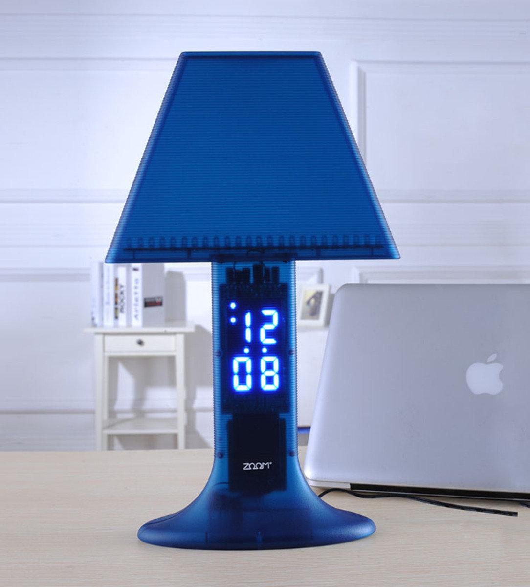LED 超薄夜燈+ 鬧鐘 時尚 創意 生活 品味 禮品 電子 學生 兒童 靜音 家居 床頭燈 夜光 貪睡 時鐘