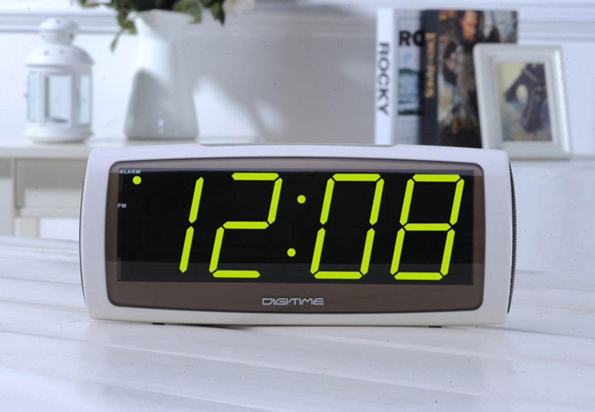 LED 特大屏幕鬧鐘 老人 長者 近視 時尚 創意 生活 品味 禮品 電子 學生 靜音 家居 床頭 夜光 貪睡 時鐘