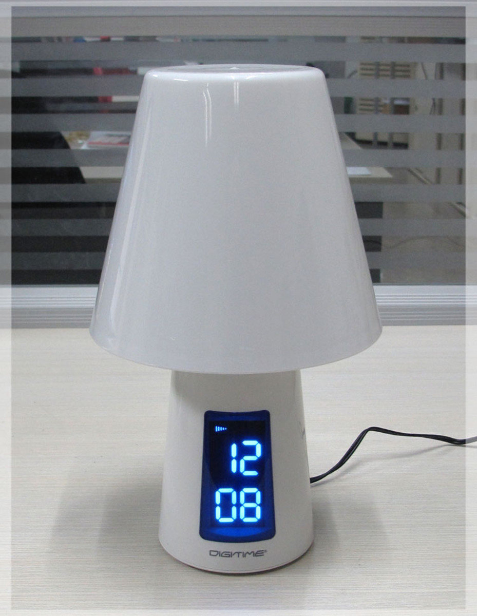 LED 變色夜燈+鬧鐘 時尚 創意 生活 品味 禮品 電子 學生 兒童 靜音 家居 床頭燈 夜光 變色燈 貪睡 時鐘