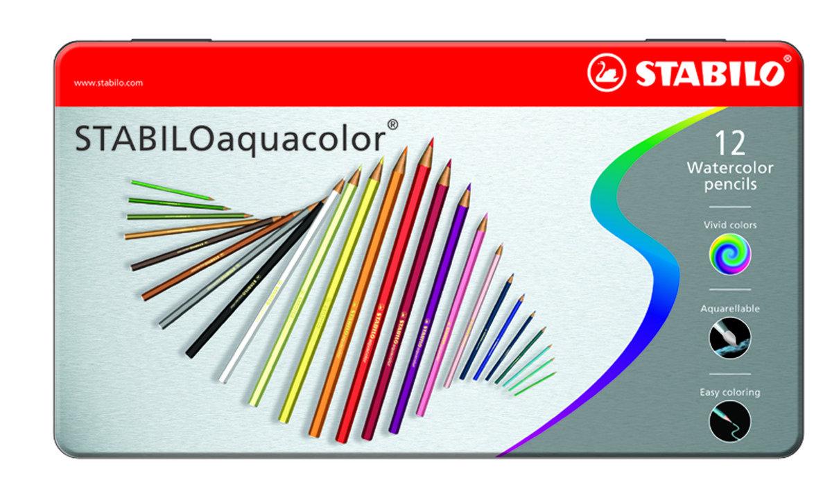 Aquacolor 水溶顏色筆12色鐵盒裝