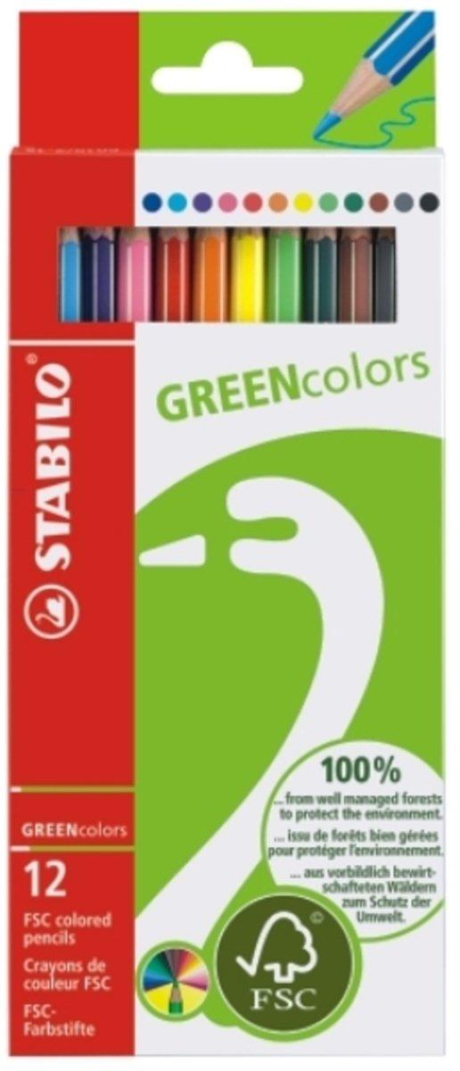 GREEN-FSC環保認證顏色筆12長