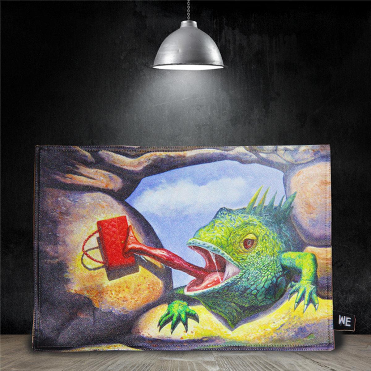 蜥蝪偷包 - 仿皮革餐墊