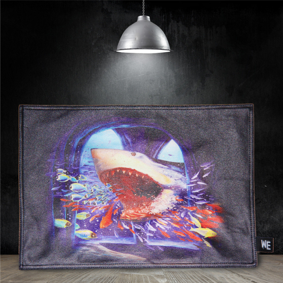 兇猛鯊魚 - 仿皮革餐墊