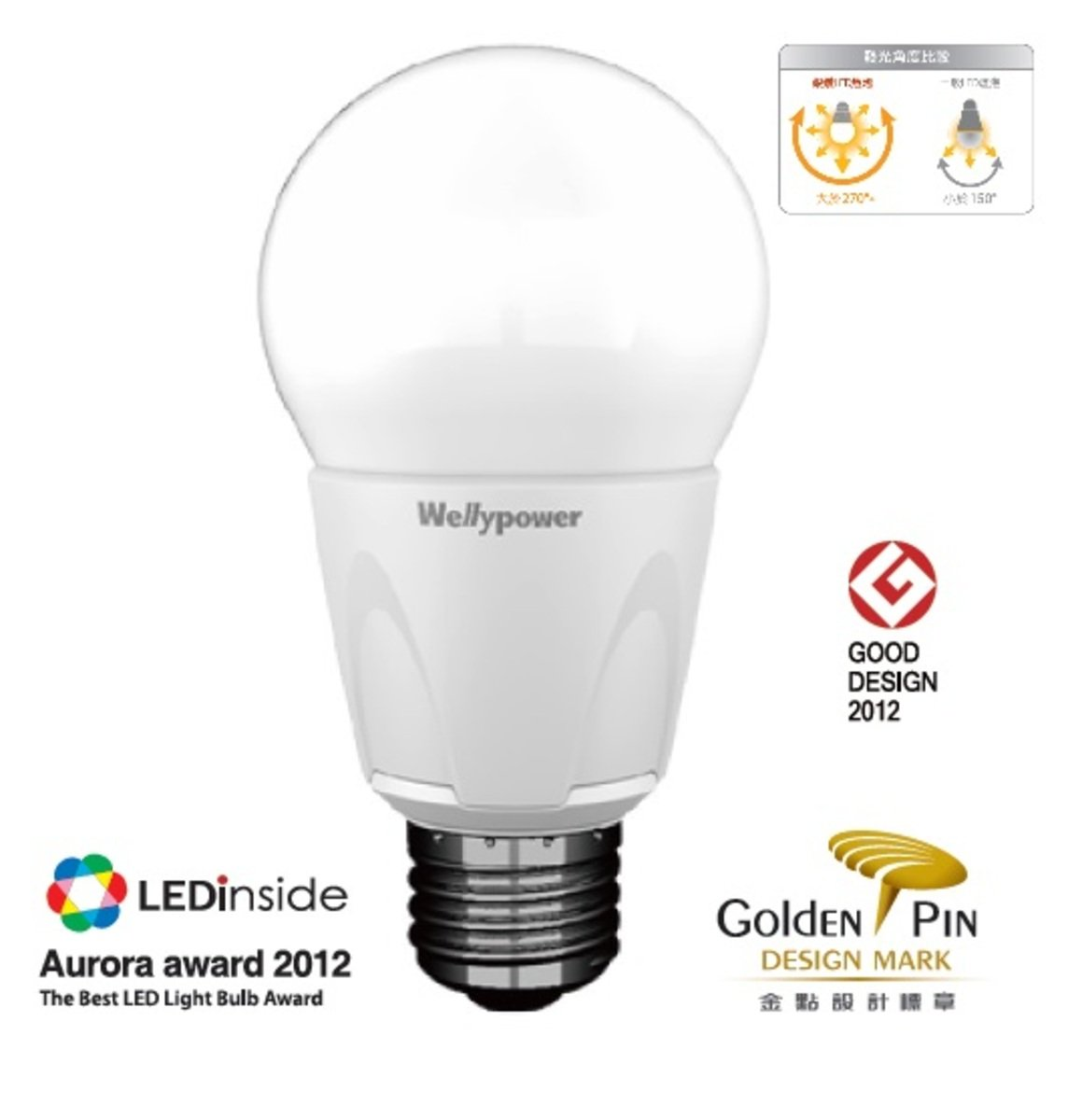 """銀鑽 II"" LED 燈泡 13W 冷白光 6500K 大螺頭E27"