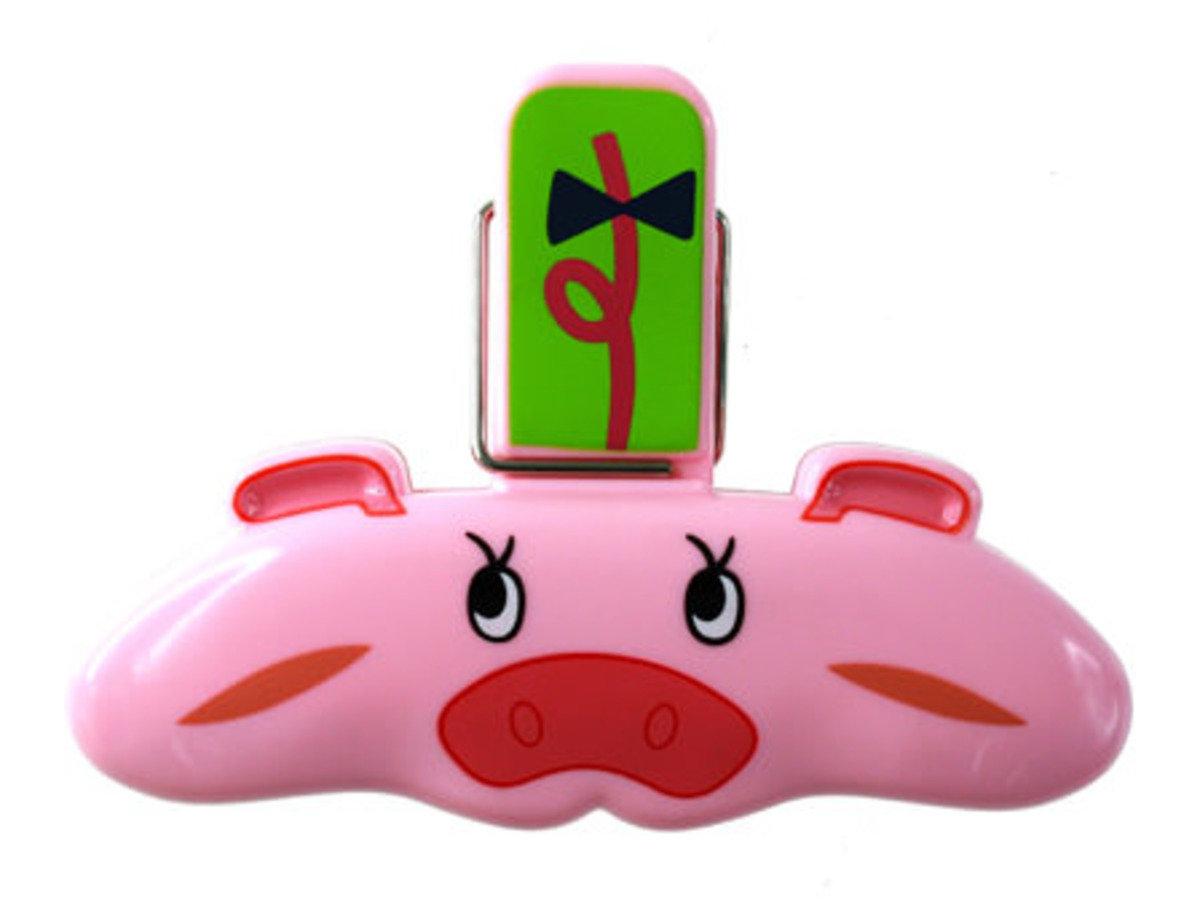 豬磁貼袋子夾
