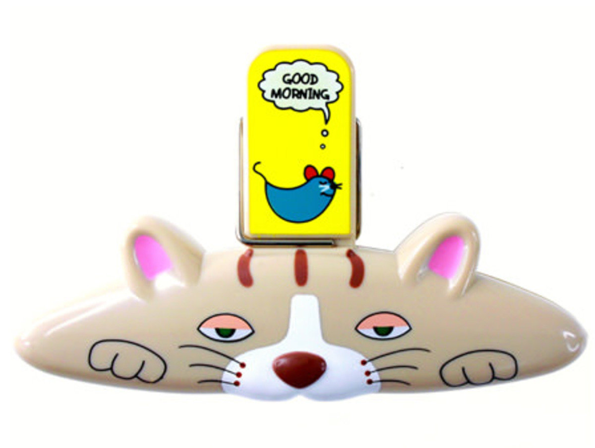貓磁貼袋子夾