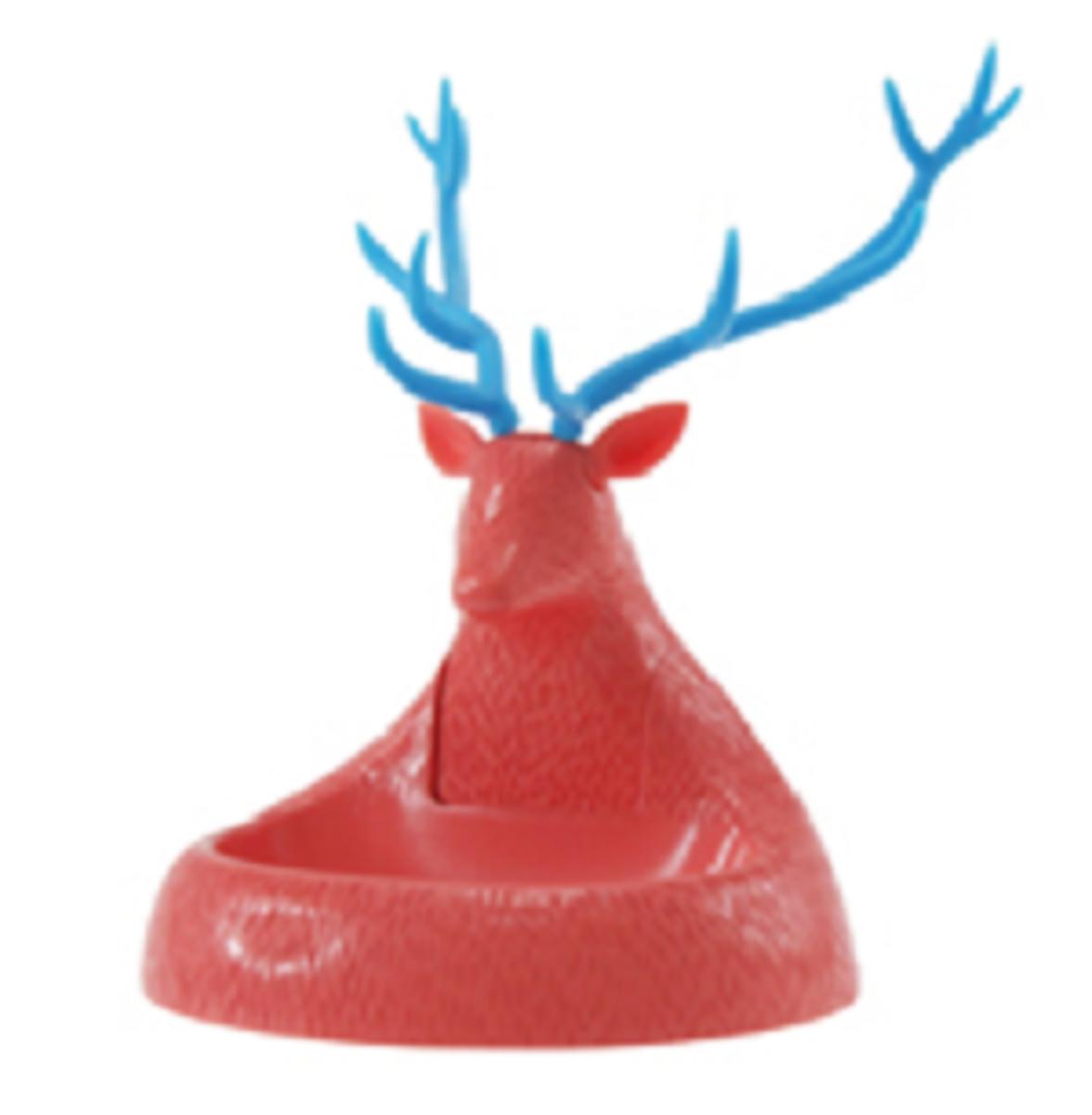 紅鹿形萬字夾座