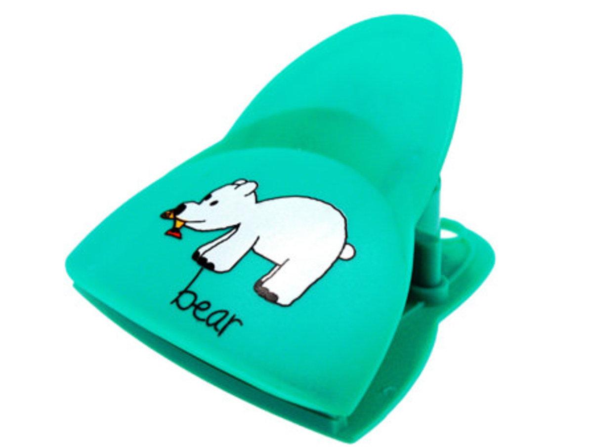 熊聲磁貼夾