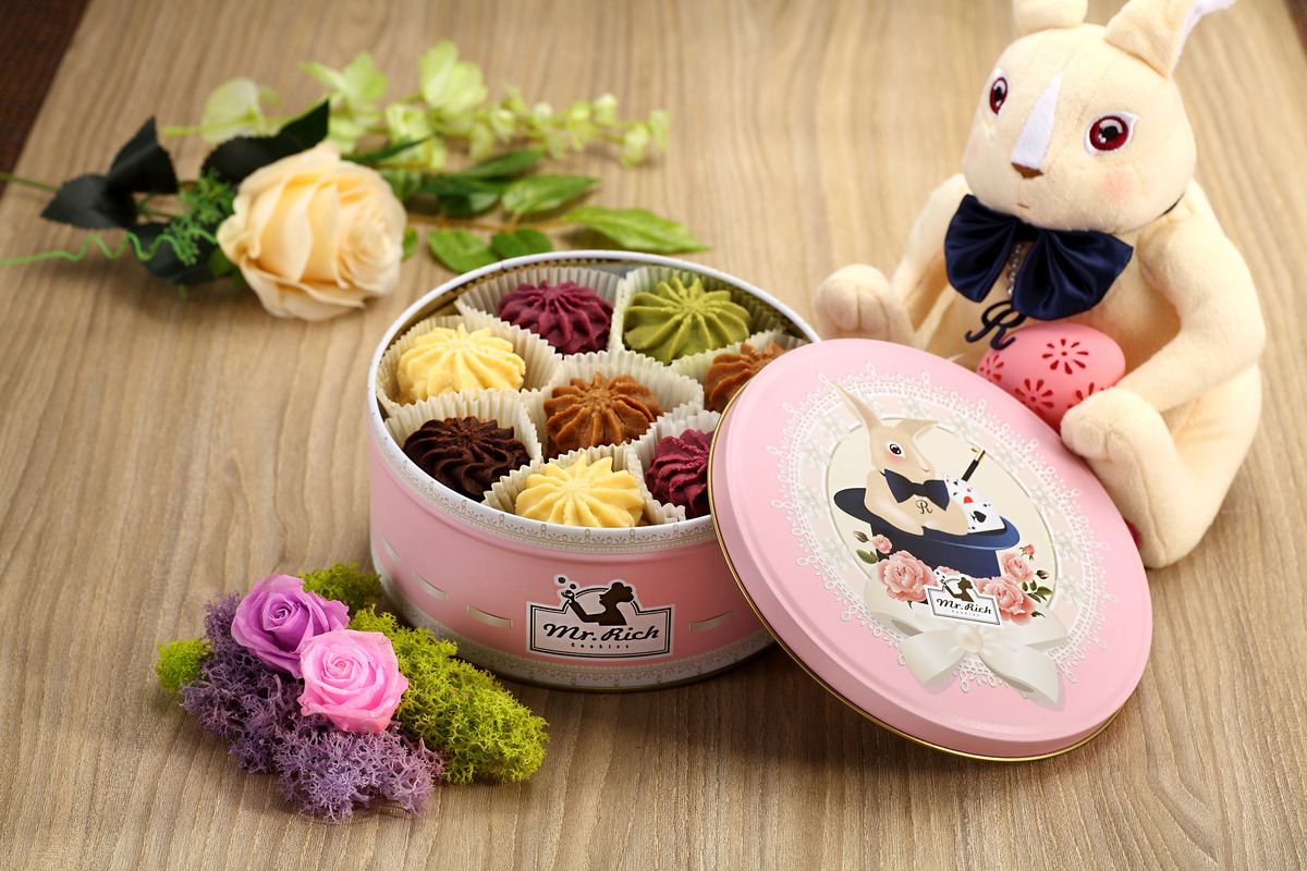 5味限量版曲奇 - 350克 + Mr.Rich Rabbit