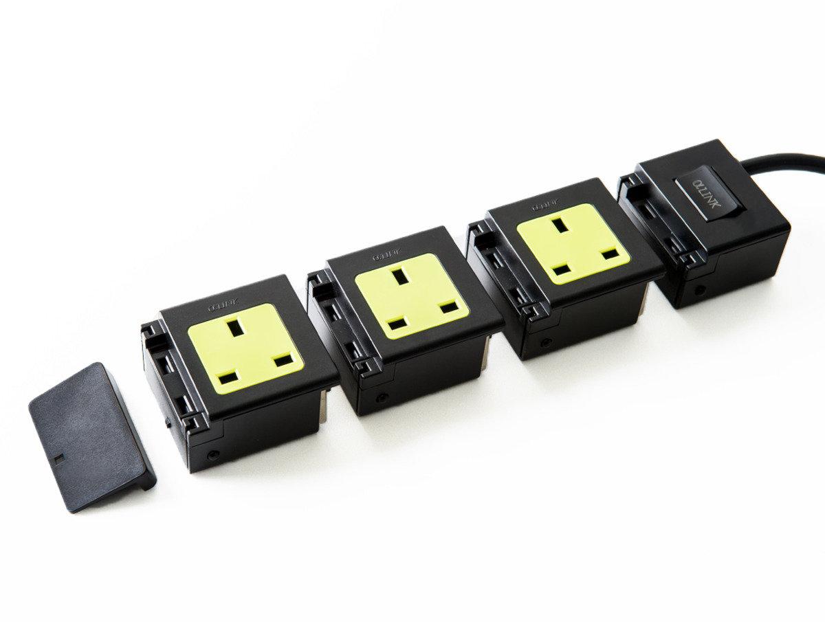 隨插式旅行系列 - 3位獨立配置拖板套裝 (黑色)