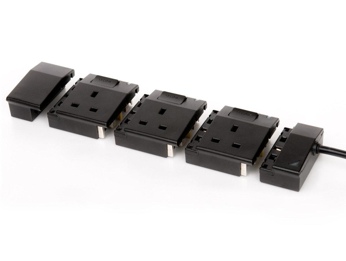 隨插式系列 - 3位獨立配置拖板套裝 (黑色)