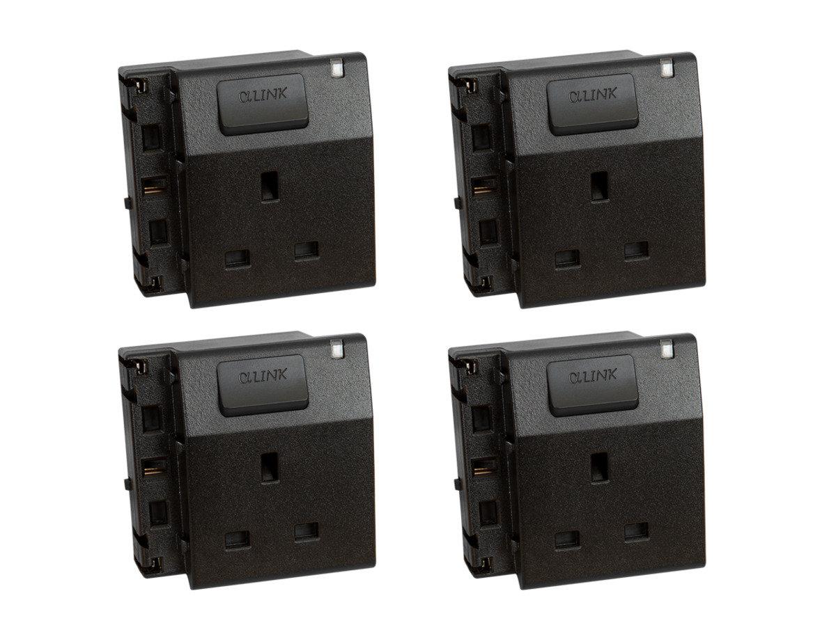 隨插式系列 - 獨立電源插座 (4個裝) (黑色)