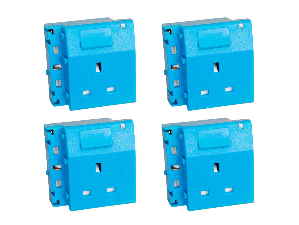 隨插式系列 - 獨立電源插座 (4個裝) (藍色)