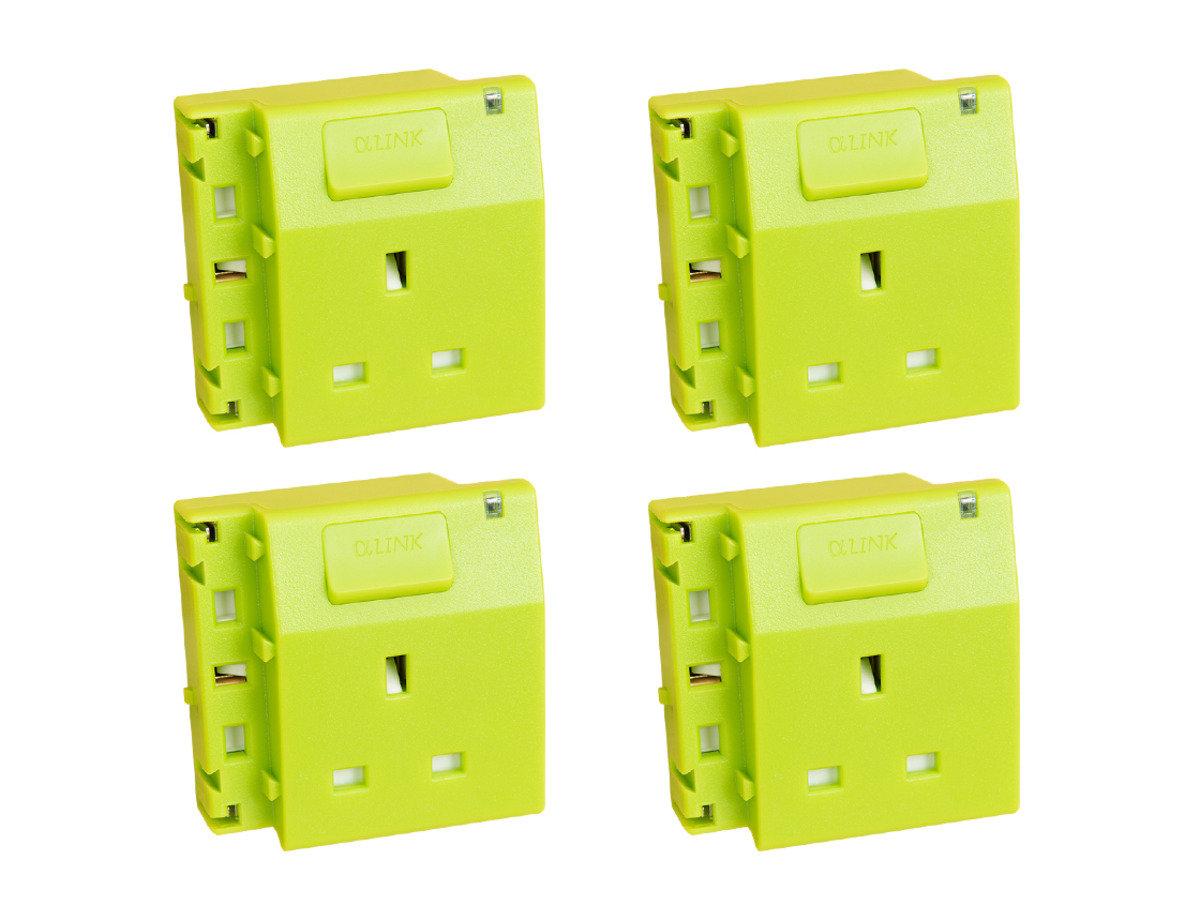 隨插式系列 - 獨立電源插座 (4個裝) (綠色)