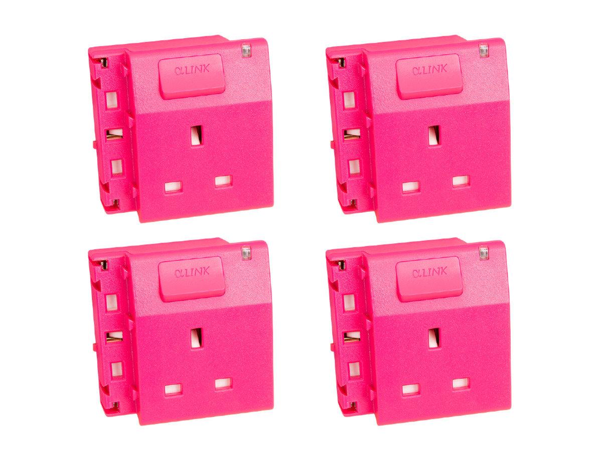 隨插式系列 - 獨立電源插座 (4個裝) (粉紅色)