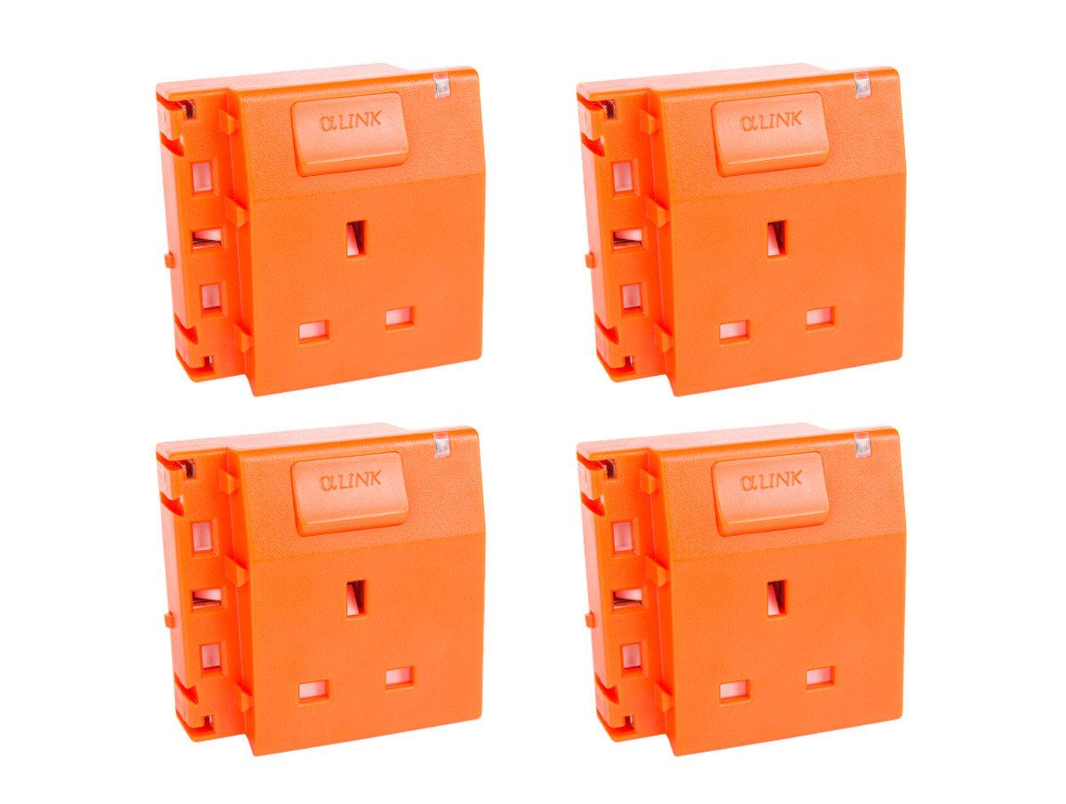 隨插式系列 - 獨立電源插座 (4個裝) (橙色)