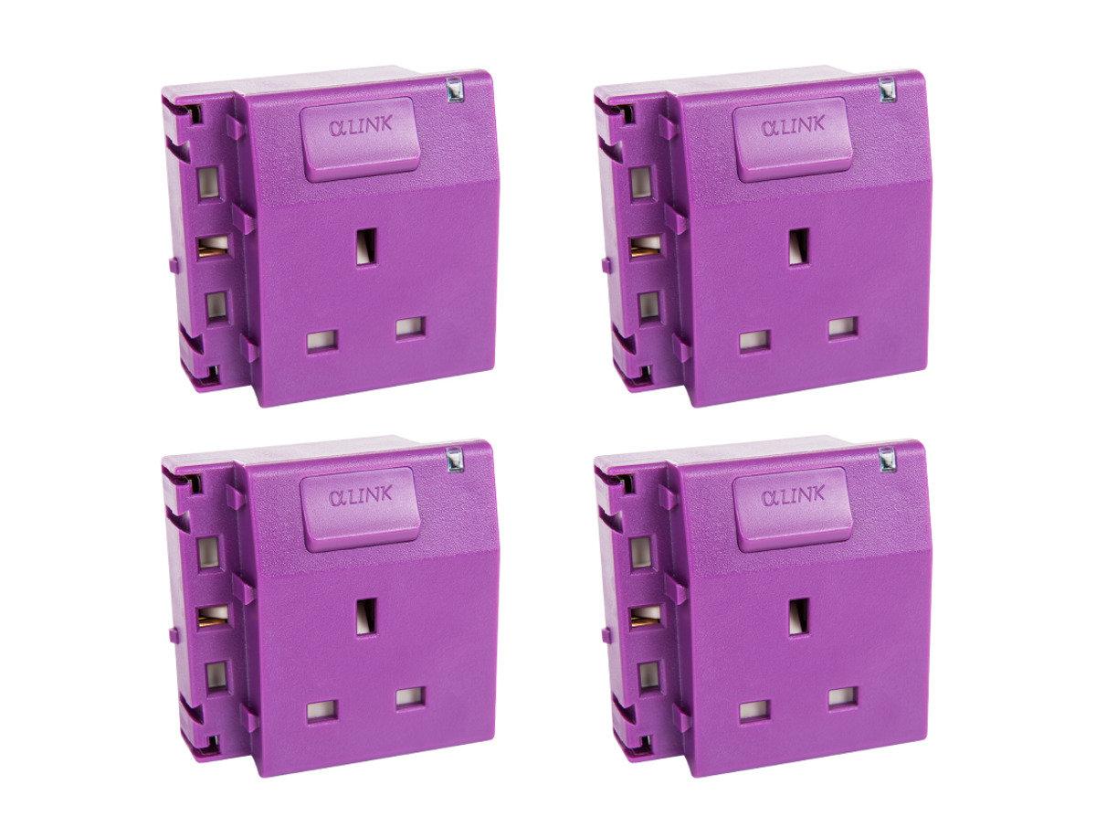 隨插式系列 - 獨立電源插座 (4個裝) (紫色)