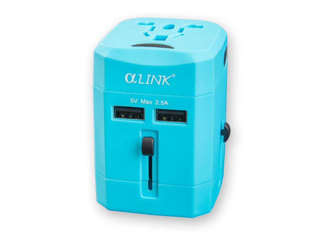 隨插式旅行系列 - USB 全球通轉換插 (藍色)