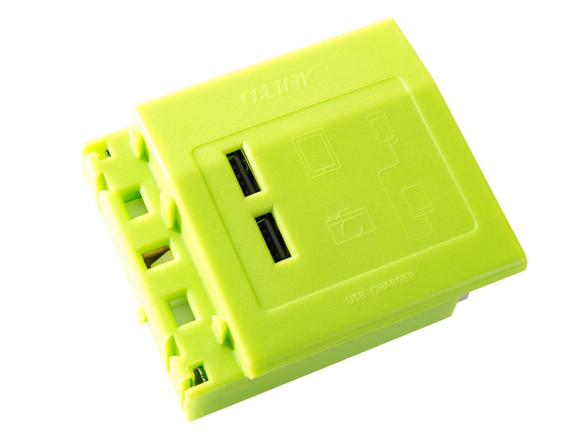 隨插式系列 - USB充電模組 (綠色)